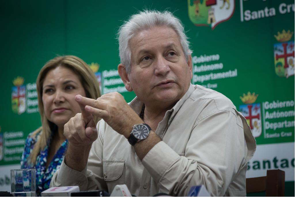 Rubén Costas le recuerda a Amdecruz que las regalías son departamentales