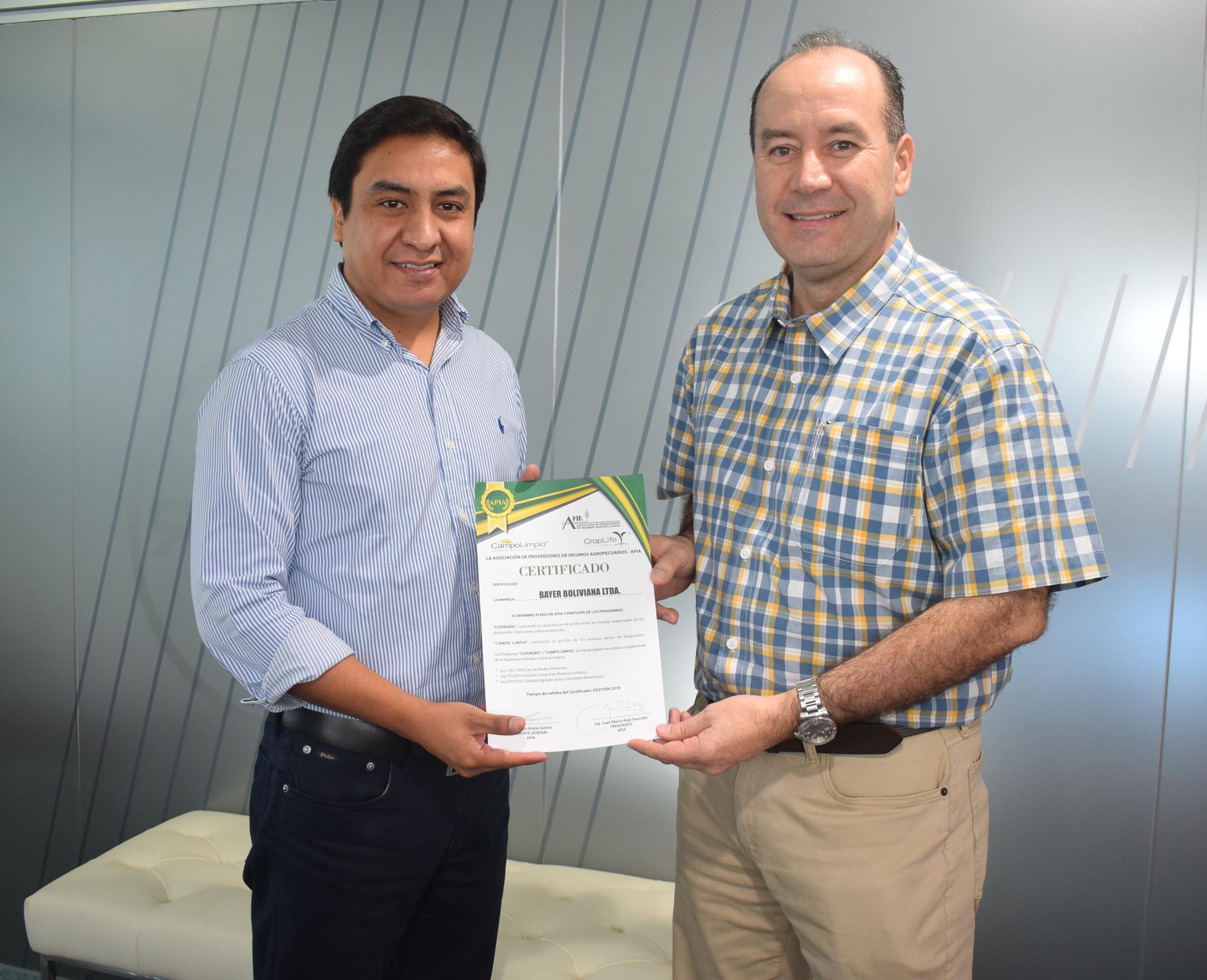 Bayer es reconocida por su apoyo a las buenas prácticas agrícolas