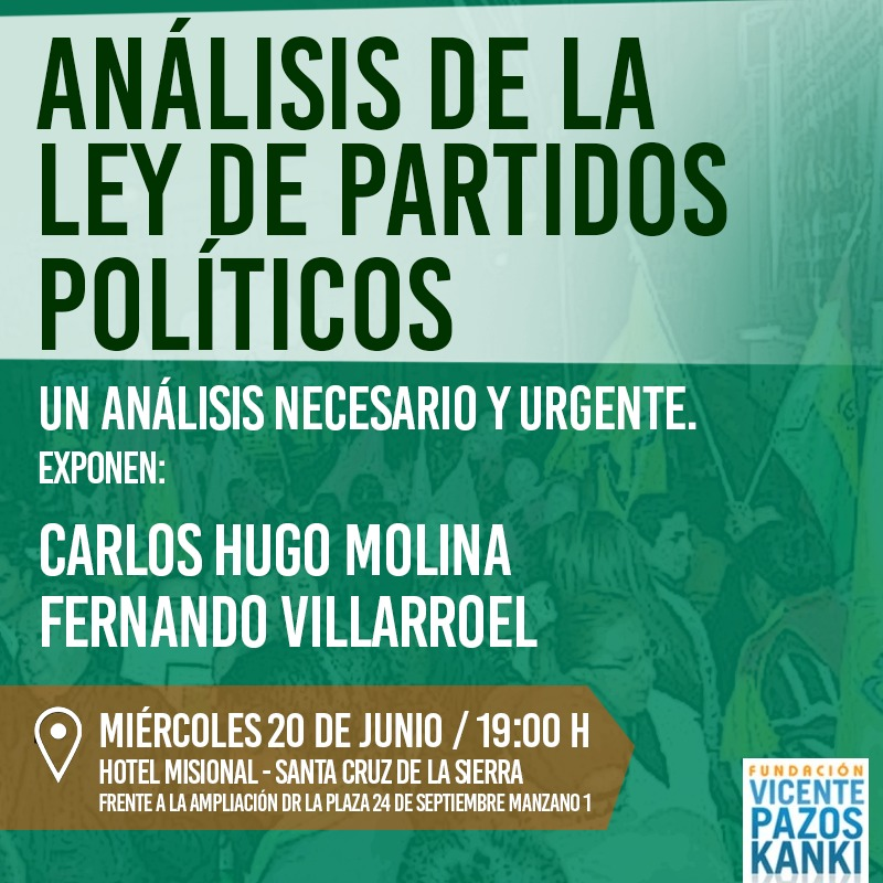 Conversatorio: Análisis de la Ley de Partidos Políticos