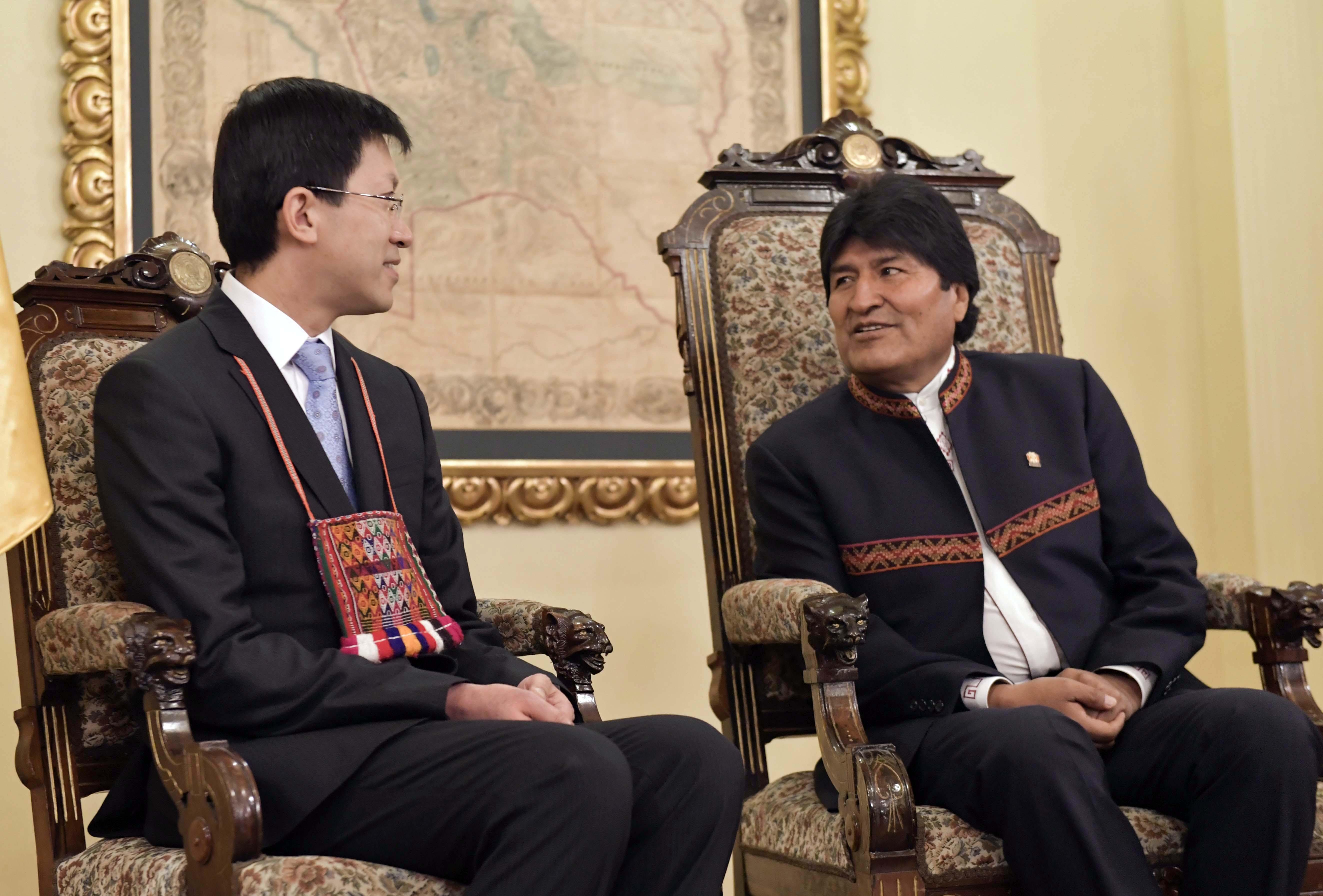 China ratifica decisión de fortalecer relación con Bolivia en todos los terrenos
