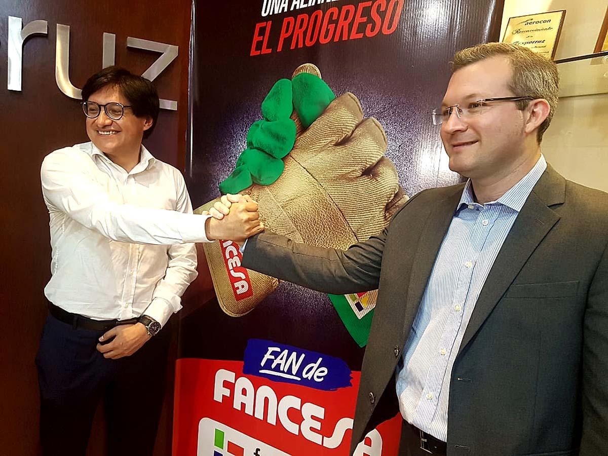 Fancesa y Fexpocruz sellan alianza para pavimentar 5.000 m2 en predio ferial