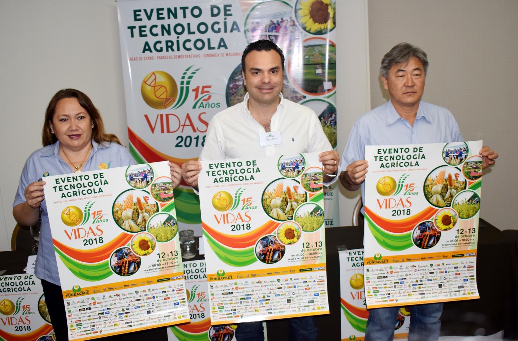"""Tecnología y conocimiento para la competitividad del agricultor  Evento VIDAS lanza su versión """"15 años"""""""