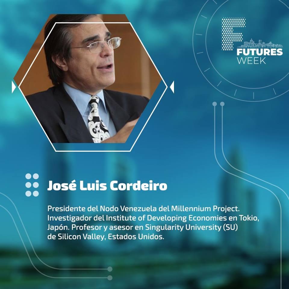 El experto Jose Luis Cordeiro estará presente en el #FutureWeeks