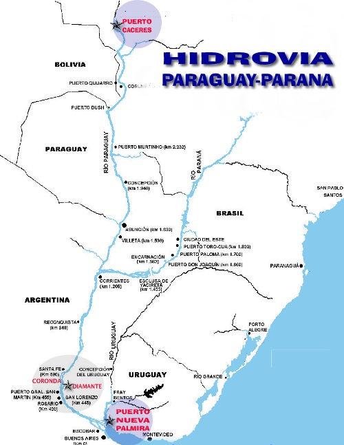 A través de la hidrovía Paraguay-Paraná, Bolivia podría contar con un puerto estatal soberano