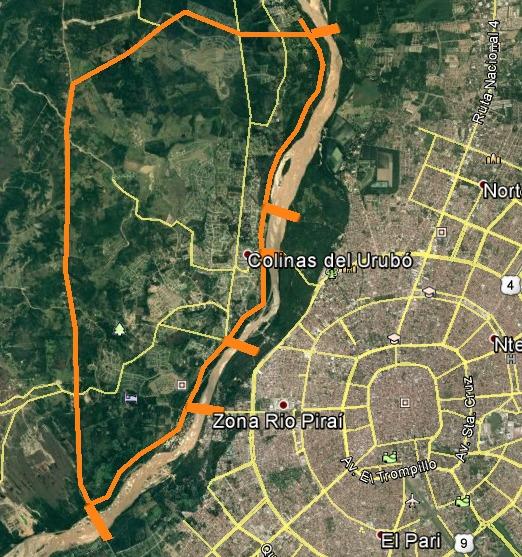 """Puentes para el """"turbión"""" del desarrollo: Porongo-Santa Cruz de la Sierra"""