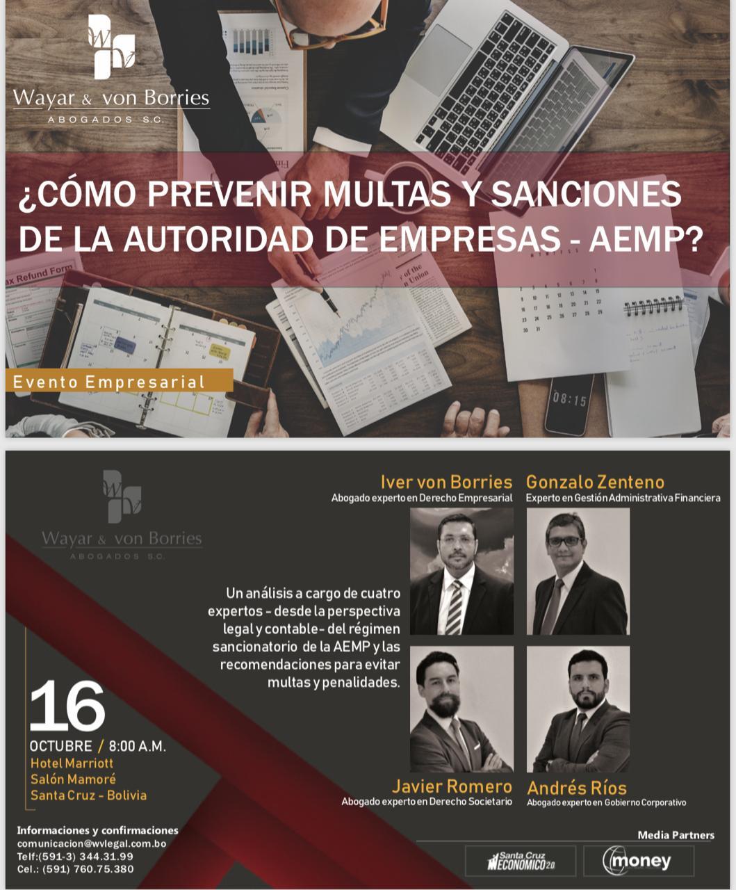 Evento para prevenir multas de la autoridad de empresas