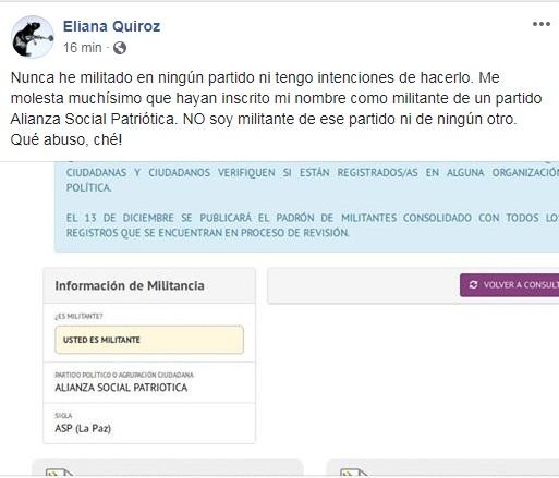 Ciudadanos denuncian que figuran como militantes de partidos sin haberse inscrito