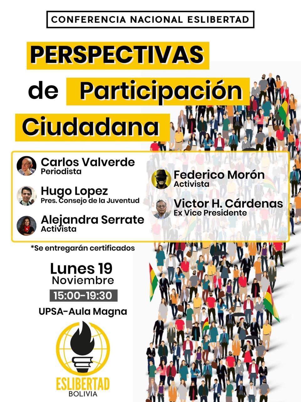 Exvicepresidente Cárdenas y periodista Valverde: conferencia sobre participación
