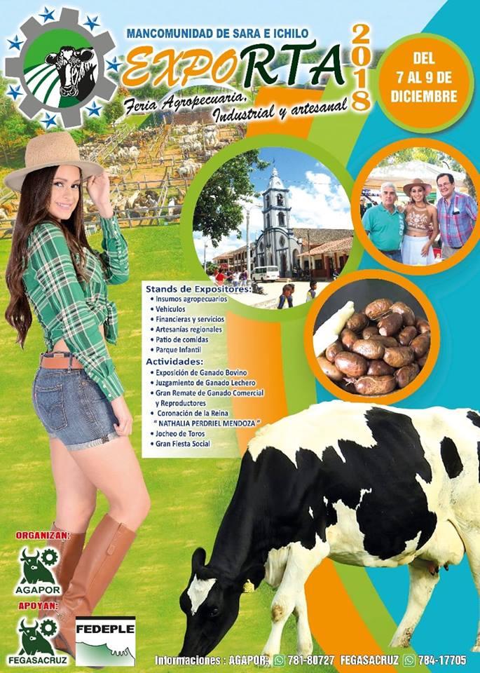 Arranca XVIII Feria Agropecuaria, Industrial y Artesanal de Portachuelo