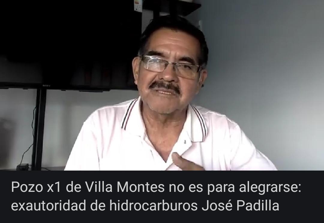 """Pozo X1 de Villa Montes """"no es para alegrarse"""": exautoridad de hidrocarburos José Padilla"""