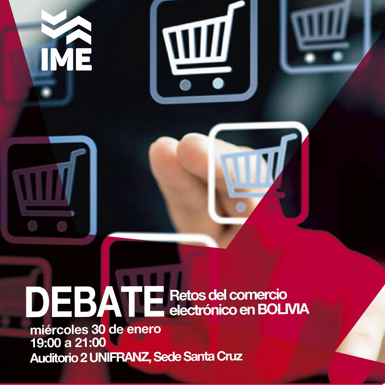 Foro Debate: retos del comercio electrónico en Bolivia en universidad privada UNIFRANZ