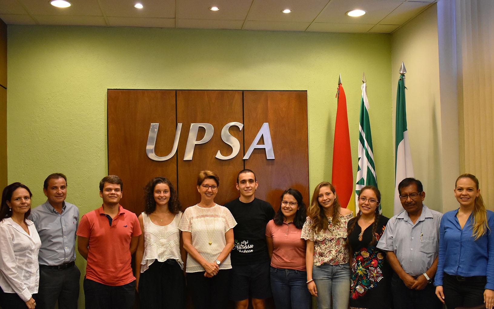UPSA da bienvenida a estudiantes de intercambio