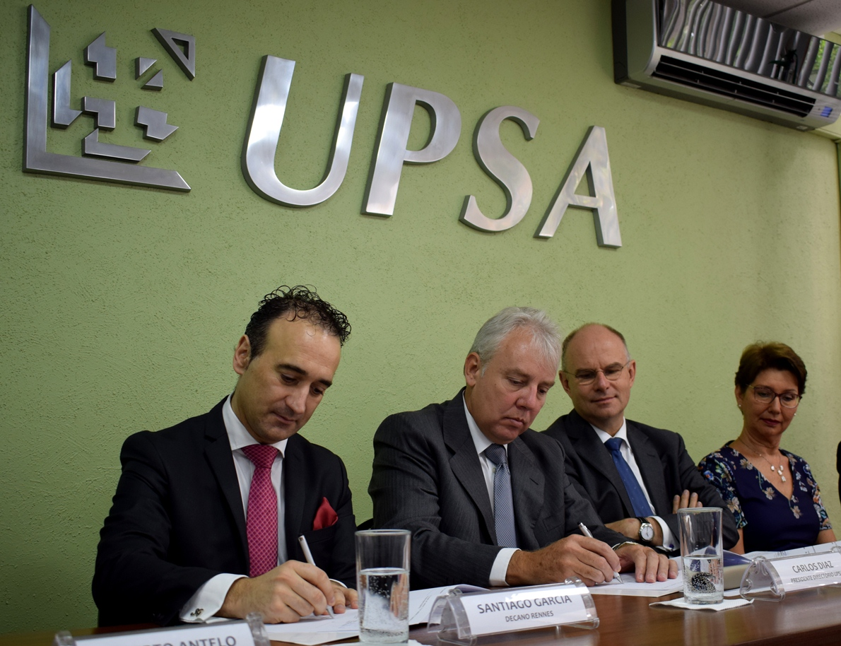 UPSA otorga Doble Titulación con la  Rennes School of Business de Francia