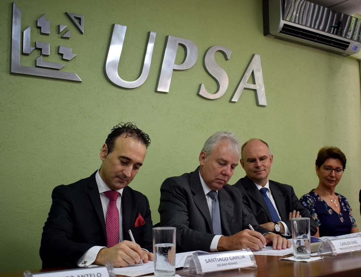 UPSA otorga Doble Titulación con la  Rennes School of Business de Francia