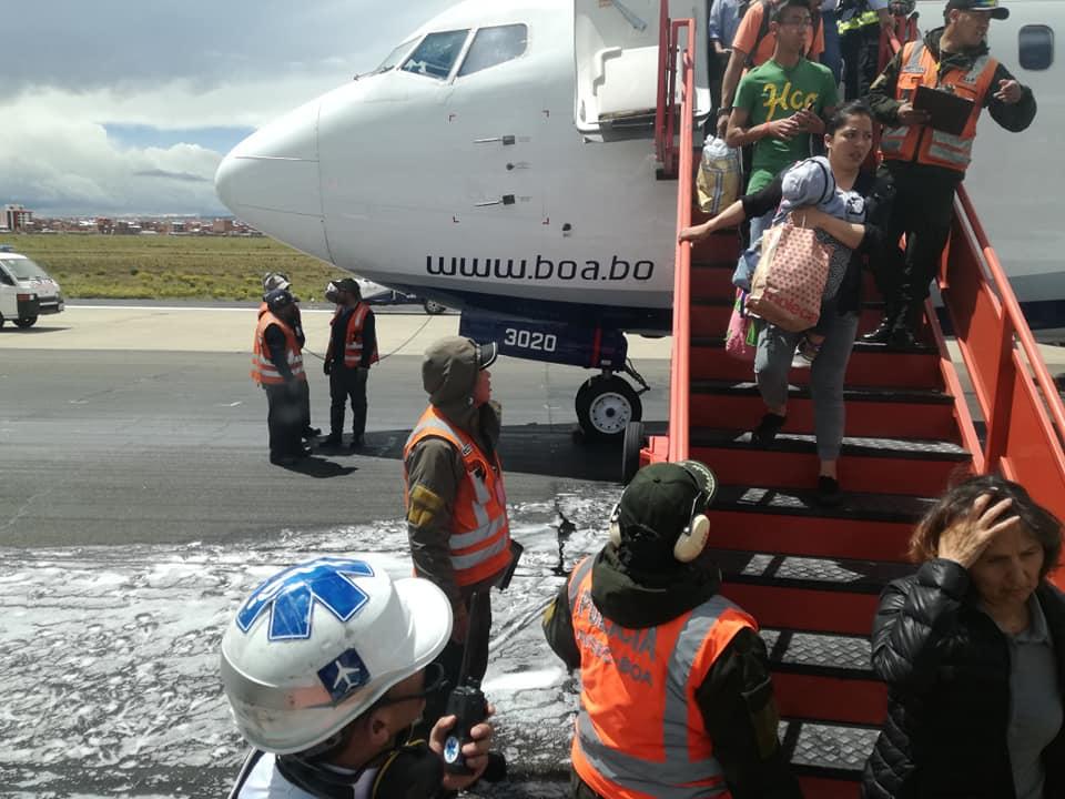 Otro incidente de aeronave de estatal Boliviana de Aviación