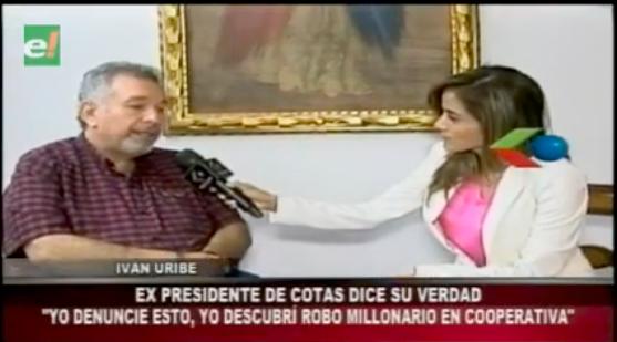 """Iván Uribe expresidente COTAS: """"Yo denuncié el robo millonario en la cooperativa"""""""