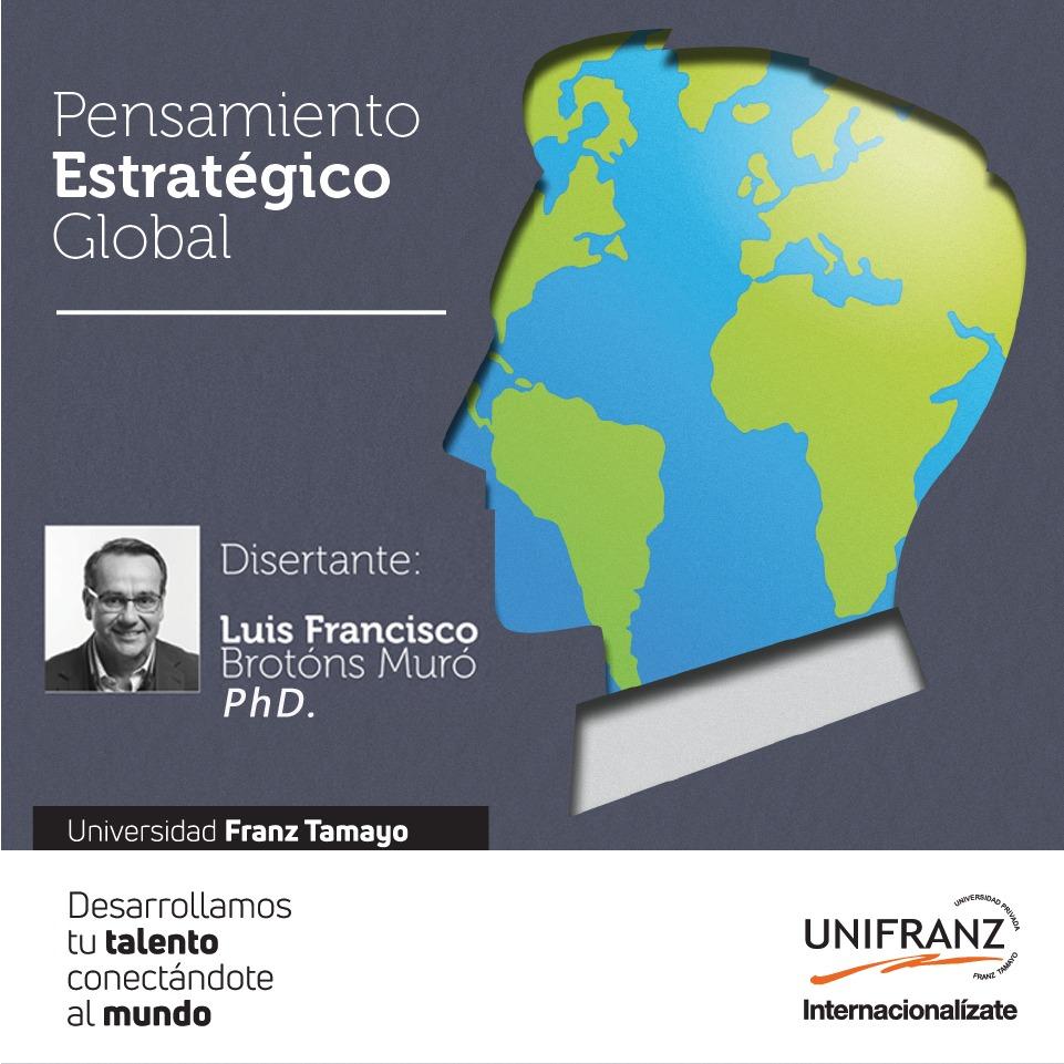 Unifranz llevó a cabo evento internacional Pensamiento Estratégico Global