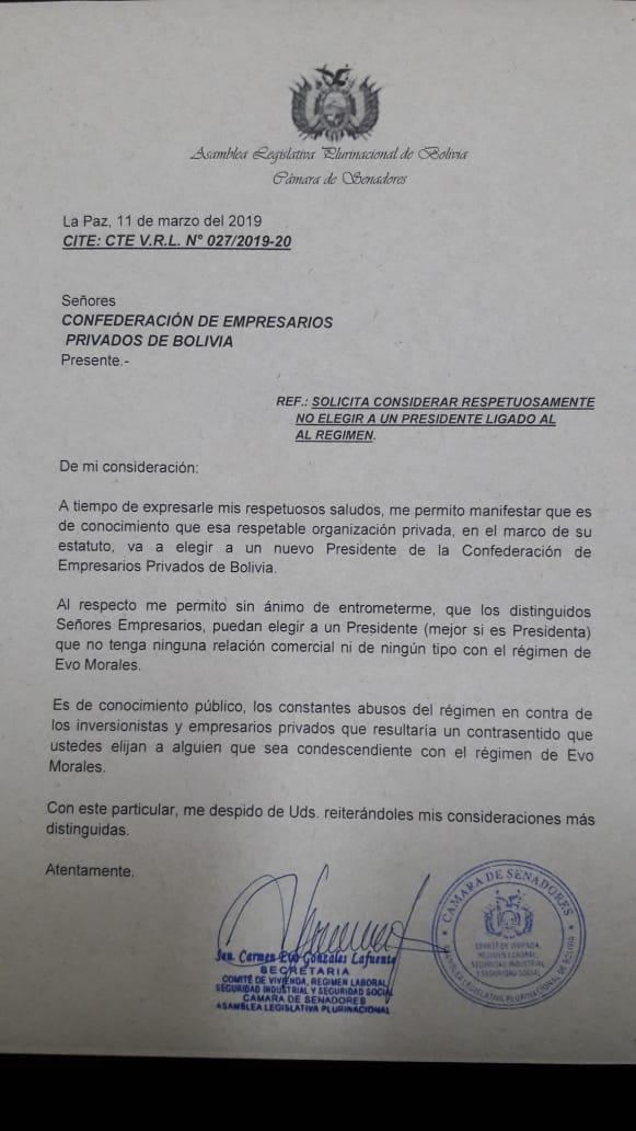Confederación de Empresarios podría elegir un presidente al margen del estatuto: denuncia Federación de Cochabamba y Marco Salinas retira su candidatura