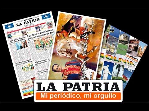 Premio Libertad para diario de Oruro La Patria por sus 100 años de vida institucional