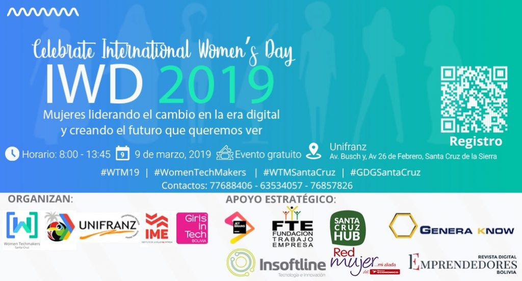 Universidad privada UNIFRANZ sede de evento International Women's Day 2019