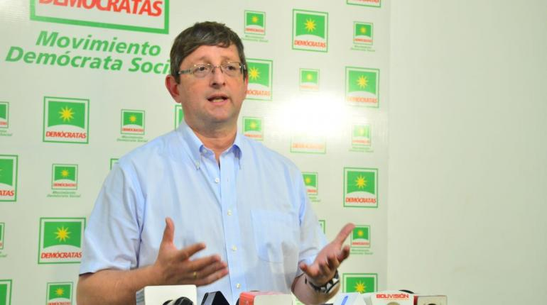 Candidato presidencial Óscar Ortíz seguirá insistiendo hasta dar con responsables de la compra con sobreprecio de taladros para Ypfb