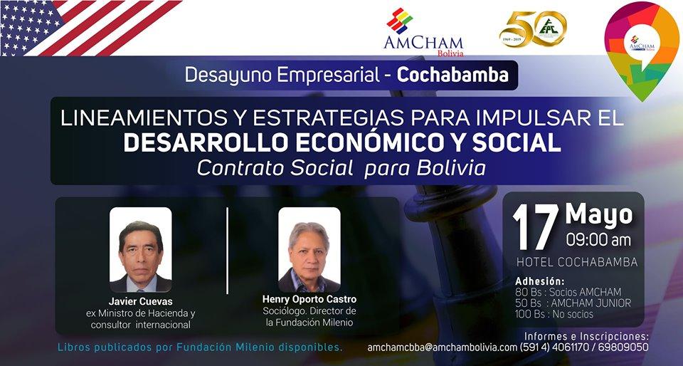 Cámara Americana de Comercio organiza evento para diseñar lineamientos para impulsar desarrollo económico