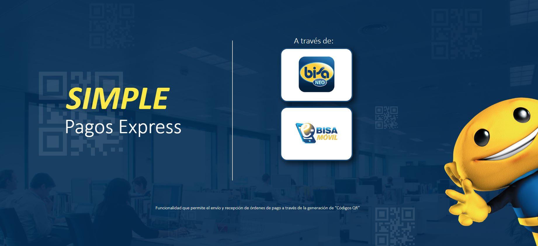 """Banco Bisa lanza """"Simple Pagos Express""""  en la 1ra Feria Ciudad Financiera Digital"""