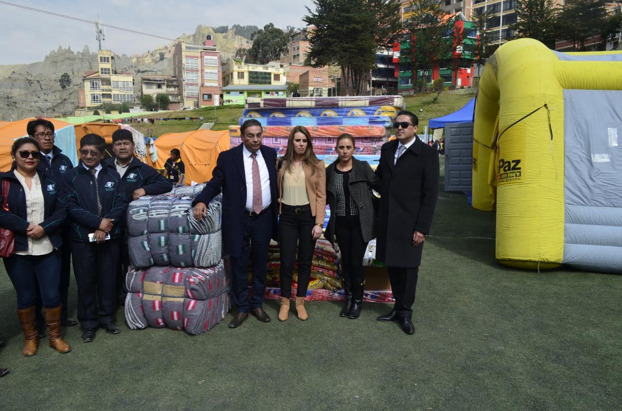 La Cámara Nacional de Comercio realizó importante donación a los damnificados del deslizamiento de la zona Llojeta