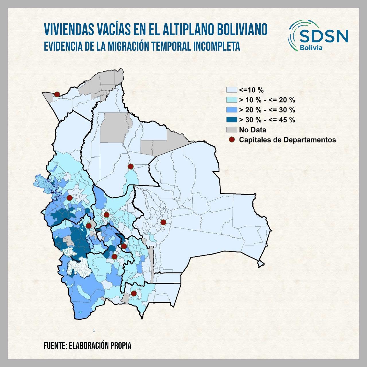 Viviendas vacías en el Altiplano de Bolivia: Evidencia de la migración temporal e incompleta