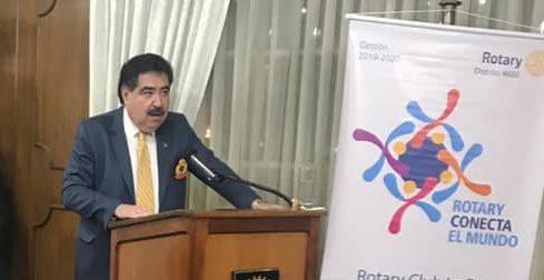 Empresario expresidente de Cámara Nacional de Comercio Marco Salinas asume de máximo líder del Rotary