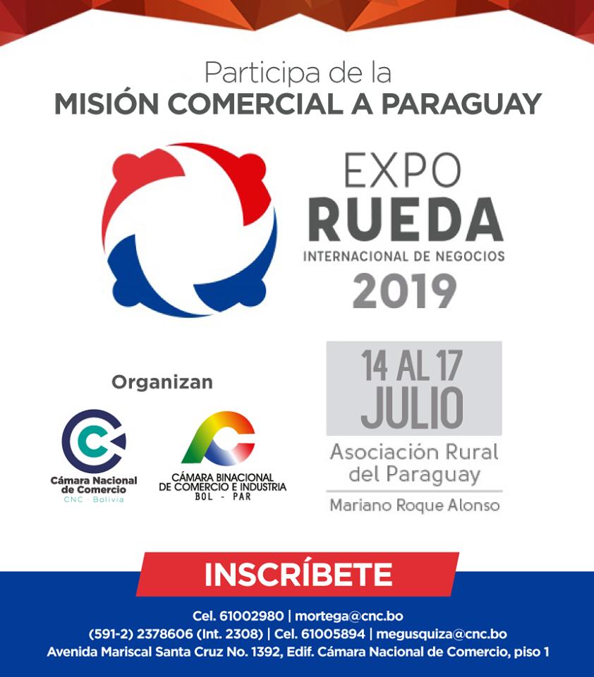 Misión comercial boliviana a Paraguay del 14 al 17 de Julio de 2019