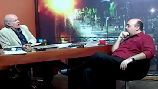 Reconocido periodista nacional Carlos Valverde entrevistó en su programa al escritor Emilio Martínez, autor del libro El caudillo ilustrado