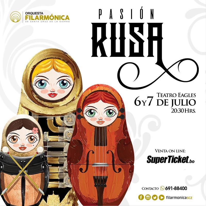 La Filarmónica vuelve a escenario con Pasión Rusa