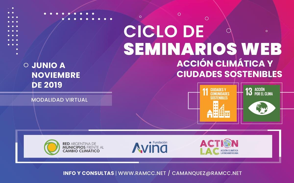 Ciclo de Seminarios Web: Acción Climática y Ciudades Sostenibles