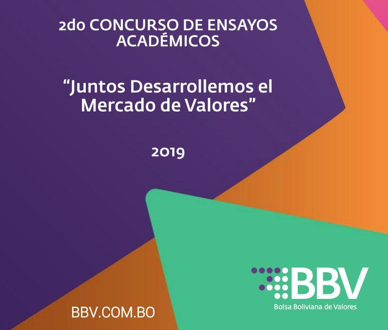 Lanza el 2do concurso de ensayos académicos  BBV busca que universitarios aporten al crecimiento del mercado bursátil