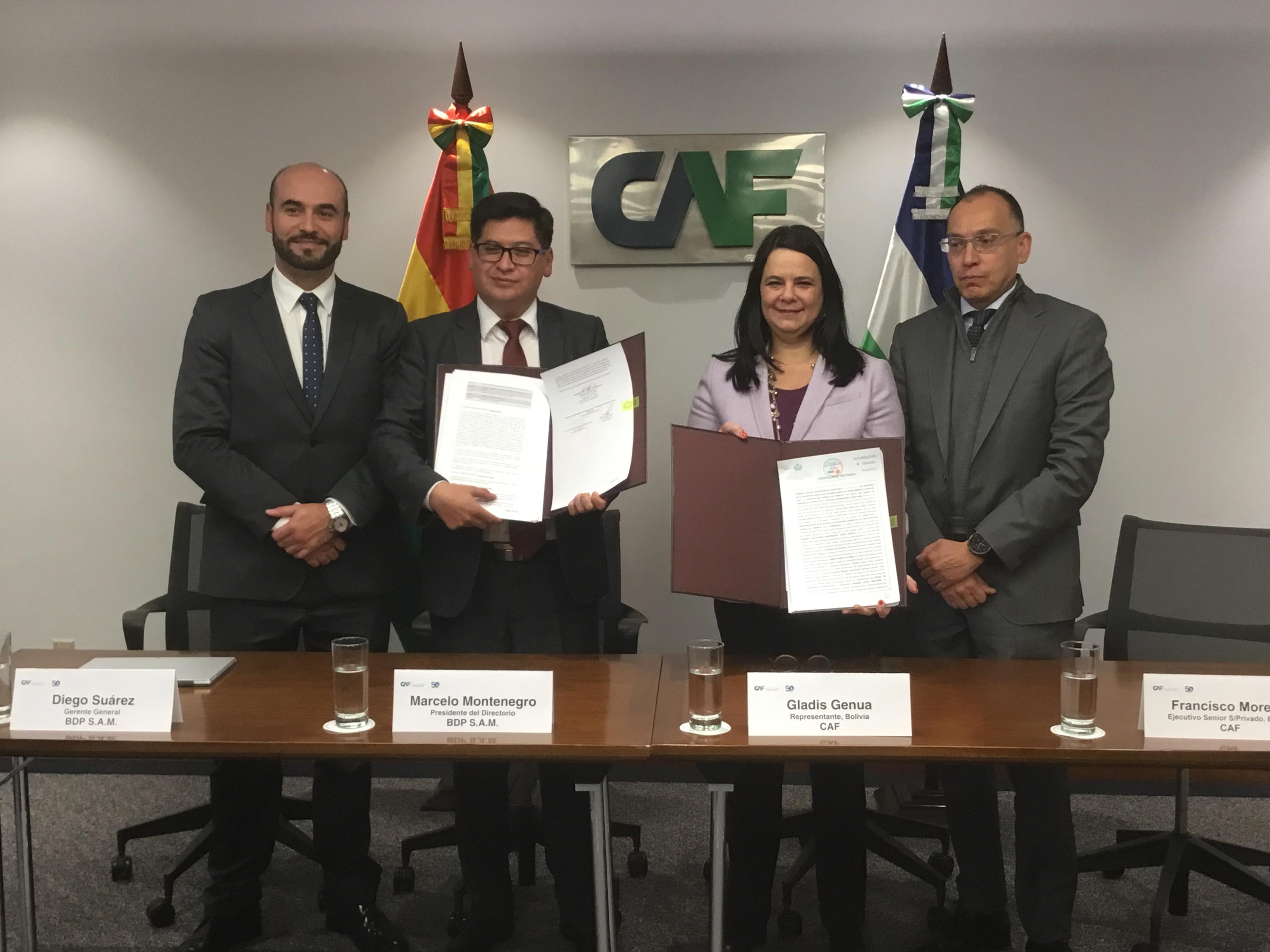 CAF aprueba línea de crédito de hasta USD 10 millones para fortalecer al Banco de Desarrollo Productivo de Bolivia