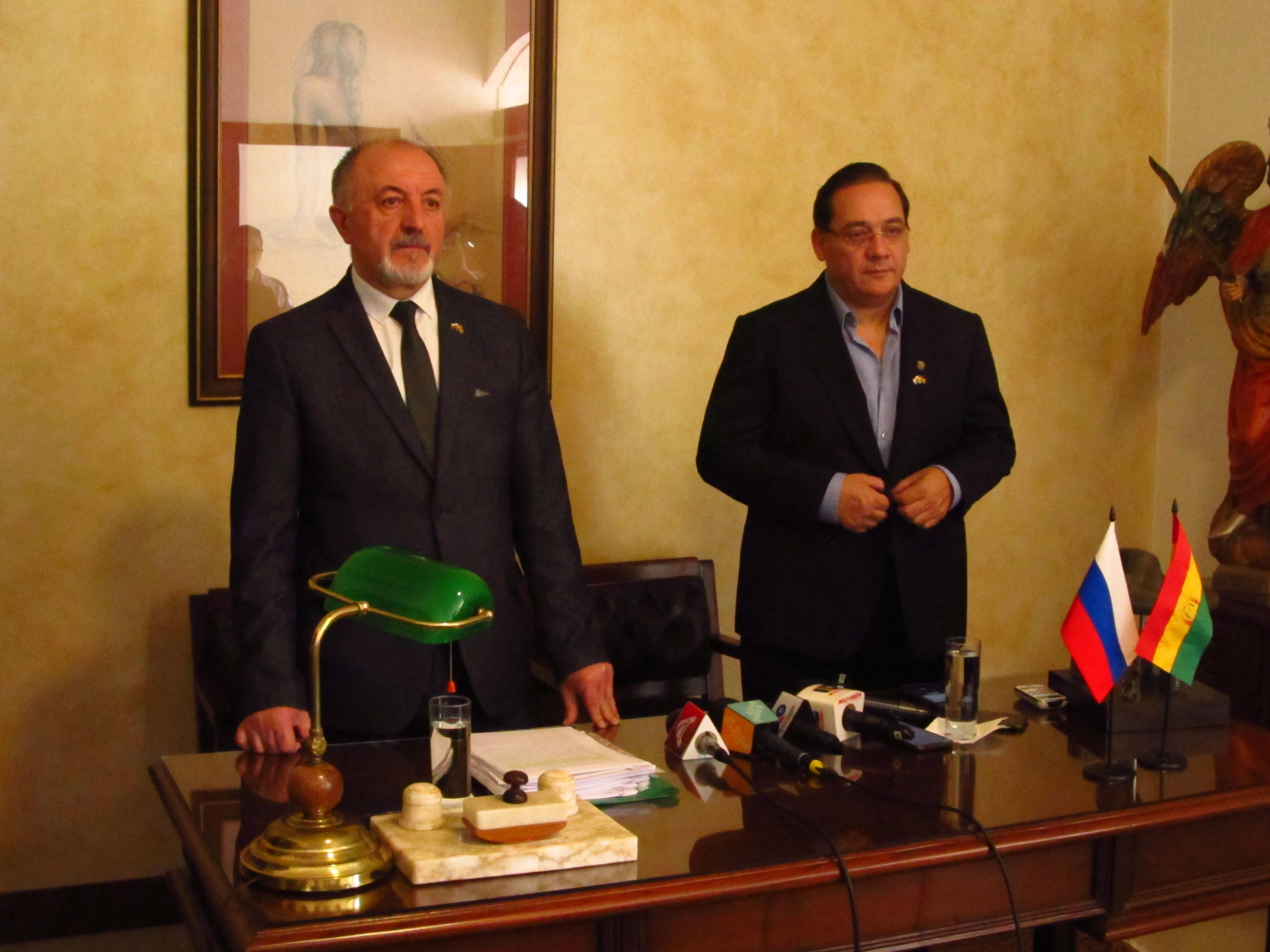 Rusia y Bolivia firman acuerdos gubernamentales en distintas áreas