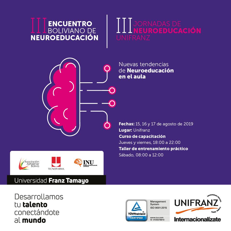 III Encuentro Boliviano de Neuroeducación y las III Jornadas de Neuroeducación