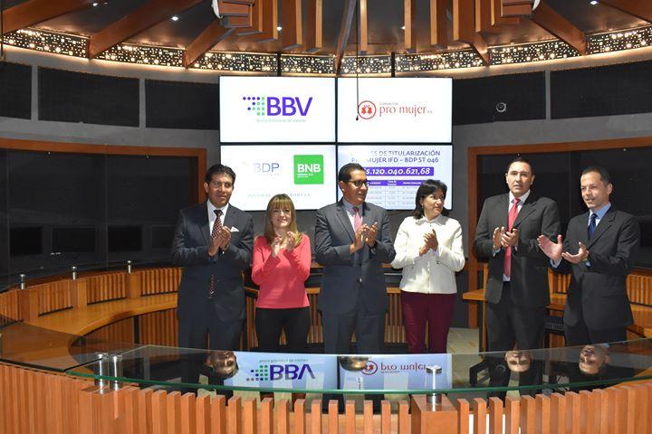 FUNDACIÓN PRO MUJER IFD coloca exitosamente valores de titularización en la Bolsa Boliviana de Valores