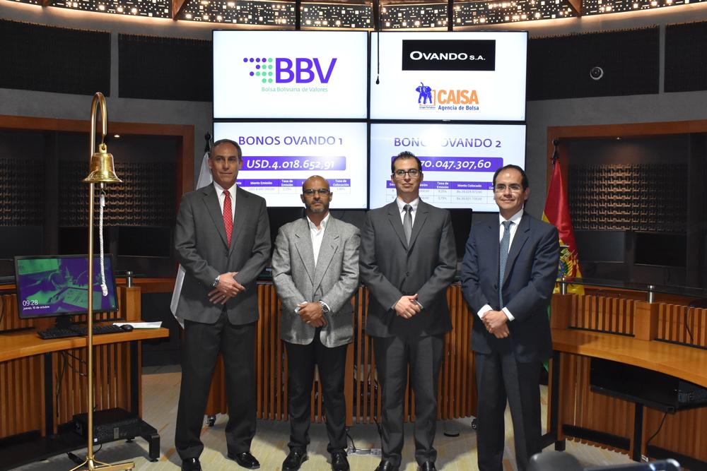 OVANDO S.A. recibe financiamiento por Bs. 98 millones a través de la Bolsa Boliviana de Valores