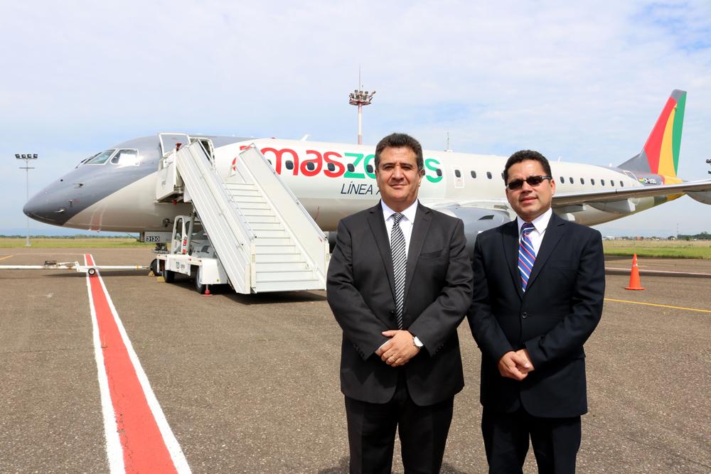 Amaszonas renueva su flota de aviones y presenta su Embraer
