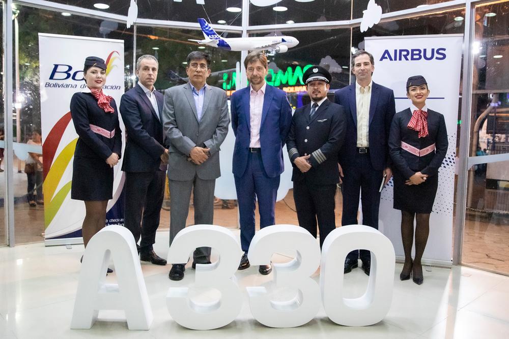 Airbus y Boliviana de Aviación celebran la selección del A330 para la renovación de su flota de aviones de largo alcance