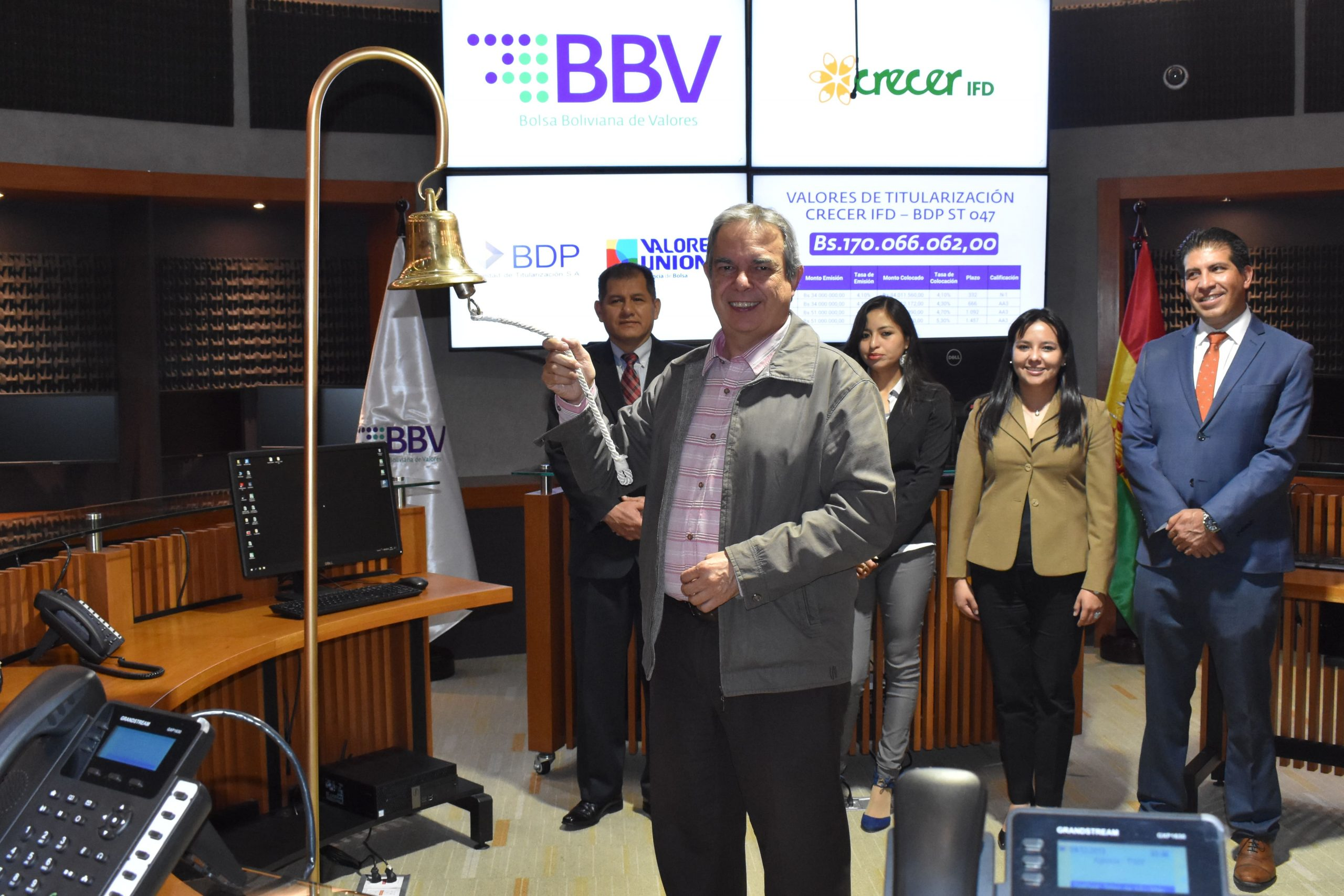 CRECER IFD coloca exitosamente valores a través de la Bolsa Electrónica SMARTBBV de la Bolsa Boliviana de Valores