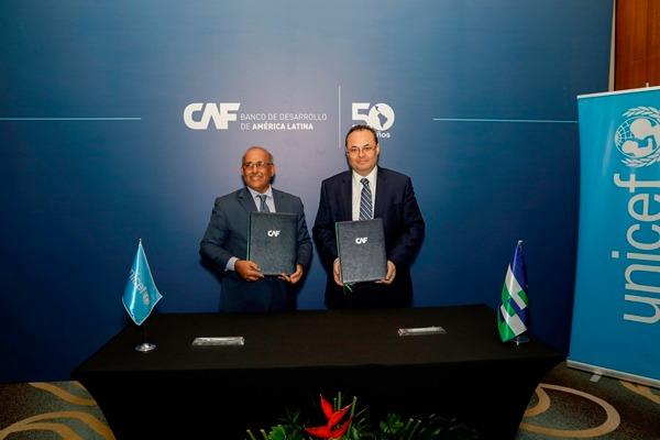CAF y UNICEF estrechan lazos por el desarrollo de la primera infancia y los jóvenes en América Latina