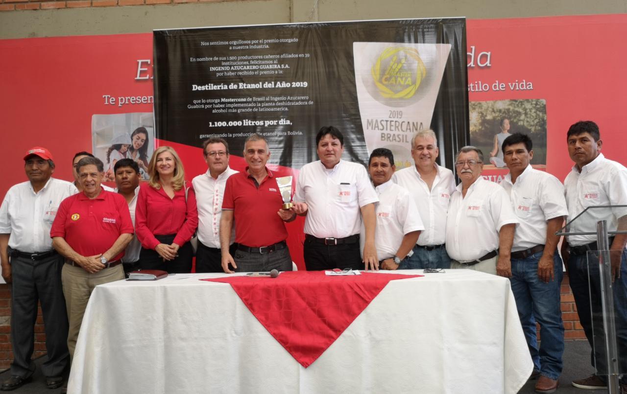 Guabirá logra galardón en Brasil como destilería de Etanol del año