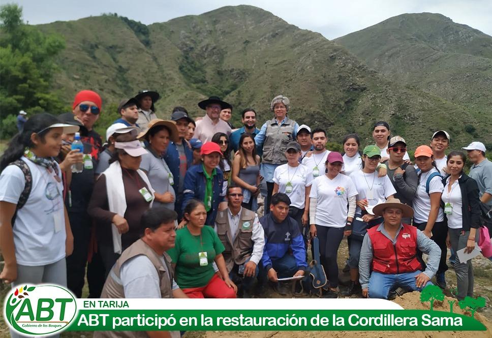 ABT participó en la restauración de la Cordillera Sama en Tarija