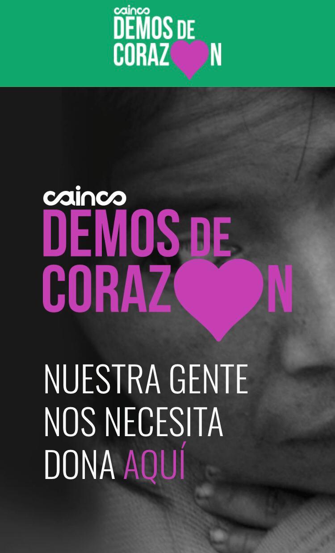 CAINCO impulsa campaña solidaria Demos de Corazón