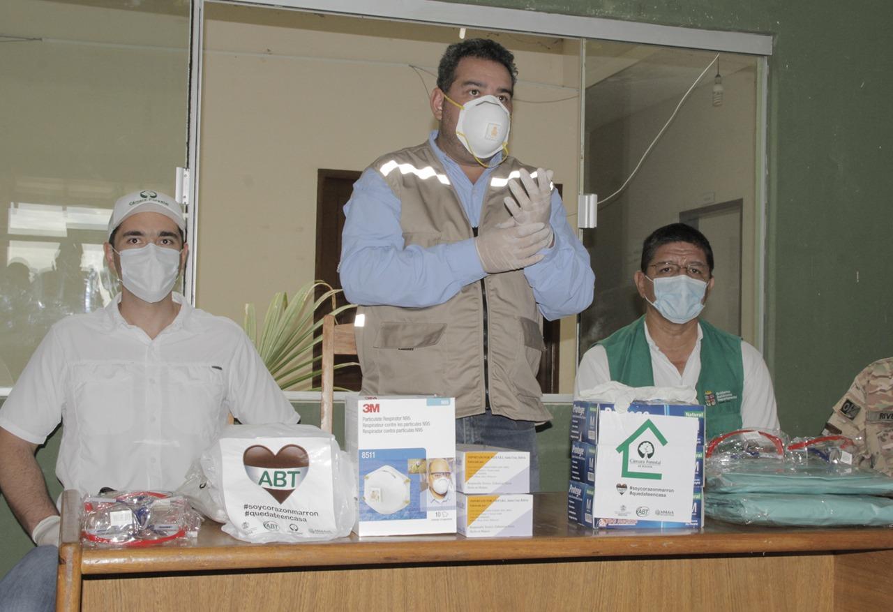 ABT y CFB entregan equipos de bioseguridad en San José de Chiquitos