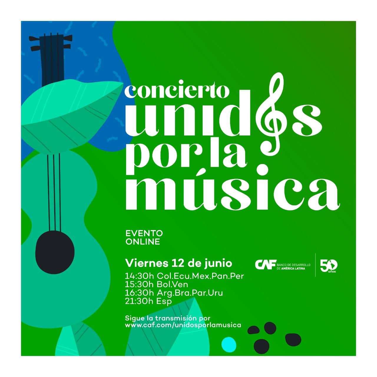 """CAF celebra su 50 aniversario con el concierto virtual """"Unidos por la música"""""""