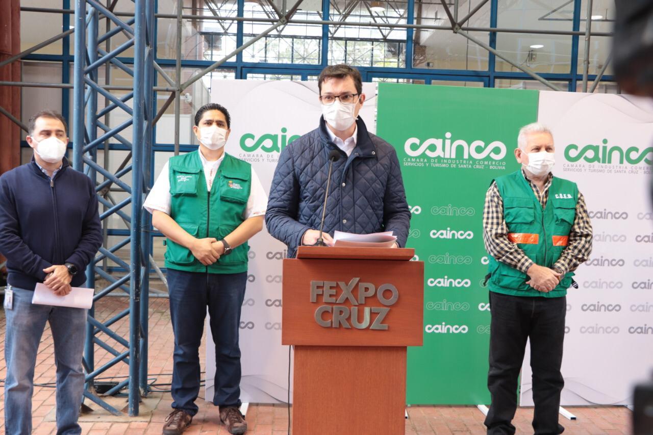 CAINCO Y SEDES ALISTAN APERTURA DEL CENTRO DE RECUPERACIÓN DE PACIENTES COVID–19 EN FEXPOCRUZ